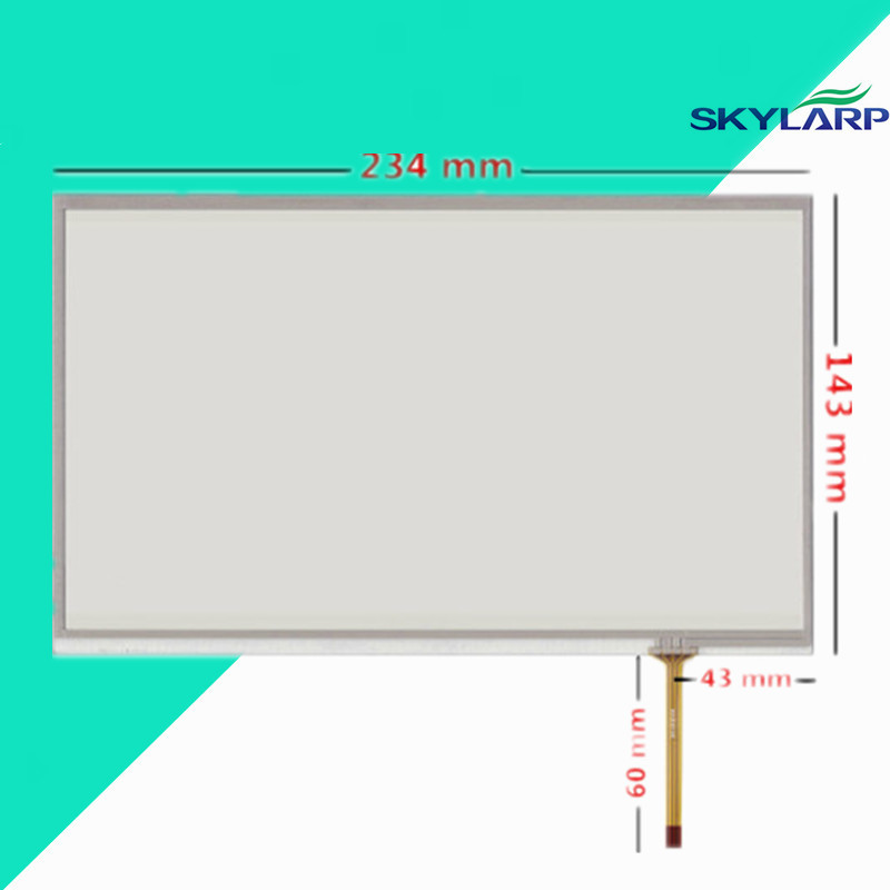 все цены на  10.1 inch 4 wire 234mm*143mm Resistive Touch Screen Digitizer Handwritten screen display on the outside for Industrial equipment  онлайн
