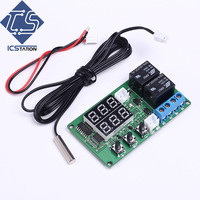 5V Dual Channel Relay Module Red Digital Display Thermometer Temperature Control Board Sensor Module