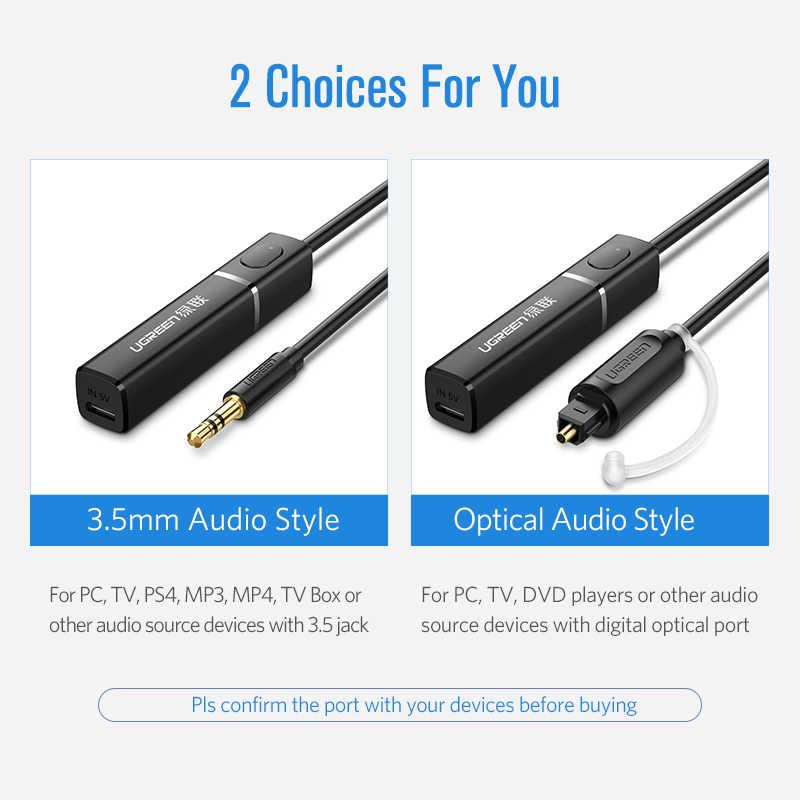 Ugreen Bluetooth передатчик 4,2 телевизионные наушники PC APTX 3,5 мм Aux SPDIF 3,5 Jack адаптер оптический аудио музыка Bluetooth передатчик