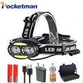 30000 ml LED faro 4 x T6 + 2 x COB + 2 x LED rojo faro Super brillante 7 iluminación 4 modos con cargador de baterías z90