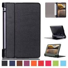 """Caso elegante ultra delgado para lenovo yoga tab 3 8 """", cubierta de la pu cuero de la cubierta protectora para lenovo yoga tablet 3 850f 8"""" pulgadas Case + Stylus"""