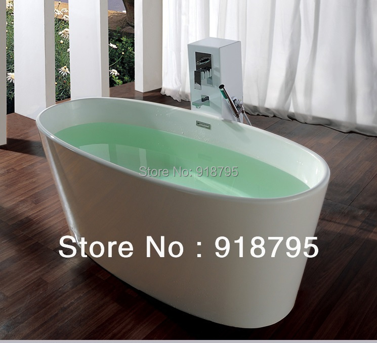 1580x700x660mm Solid Surface Stone CUPC Approval Bathtub Oval Freestanding Corian Matt Or Glossy Finishing Tub RS6504