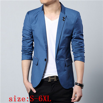 Online Shop new 2016 Special Men Slim casual men's suit jacket ...