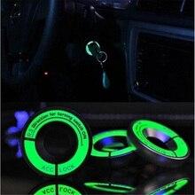 3D автомобильный Стайлинг светящееся кольцо для ключей с отверстием наклейка люминесцентный переключатель зажигания Крышка мотоциклетная круглая наклейка светильник украшение Универсальный Fit