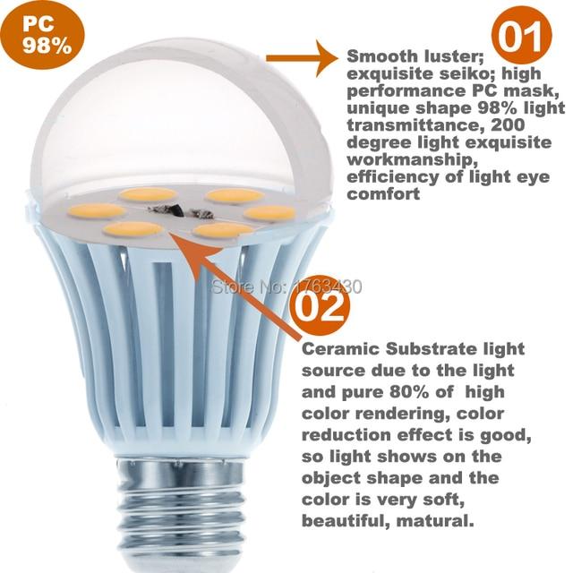 10 W LED Lampen 1100 Lumen Ersetzt 75Watt E27 6500 Kelvin, [Energieklasse  A+]