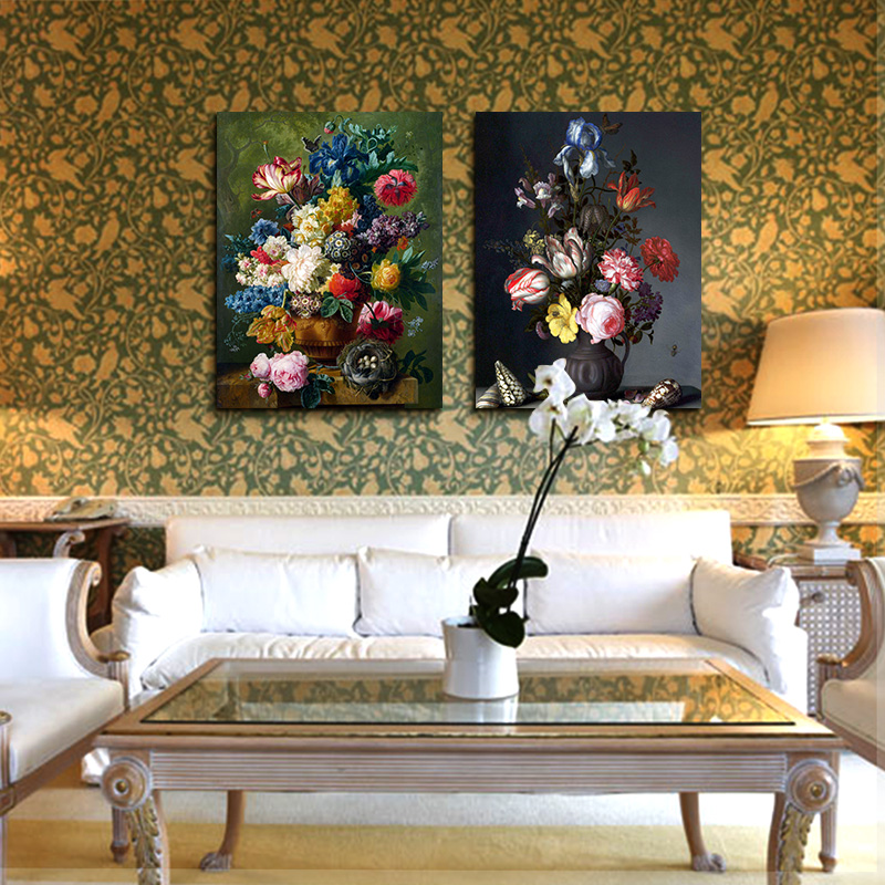 ARTRYST 2017 Hot Sale 2 Panel Beautiful Flower Unique Gift Printed on Canvas Home Decor Wall Pictures for Living Room