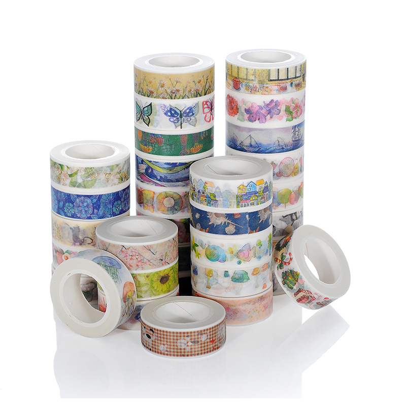 1 PCS  Color Building City Paper Washi Tape Adhesive Tape DIY Scrapbooking Sticker Label Masking Tape Office School Supplies 1 5cm wide various mushroom collections washi tape diy scrapbooking sticker label masking tape school office supply