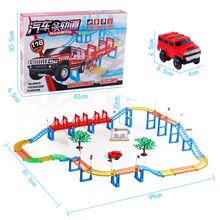 New Hot Sell 3D kids toys festive gifts Two layer Spiral Track Roller Coaster Toy Electric