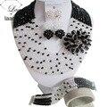 Traje de la Boda Africana de Nigeria Beads Africanos Joyería Conjunto Cristal ABF717 Perlas de La Joyería Nupcial Fija El Envío Libre