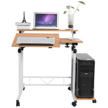 Notebook Desk Bed Learning Adjustable Mobile Laptop Computer Table Standing Desk for Office Home Furniture(China)