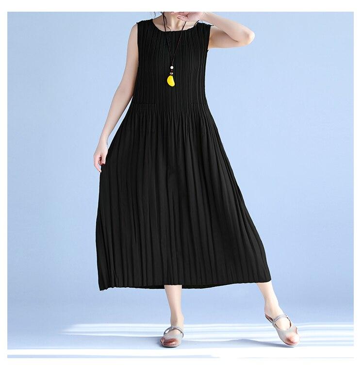BelineRosa Women's Summer Dresses 17 Pure Color Casual Women Draped Dress Sleeveless Plus Size Dresses for Women QY00001 15