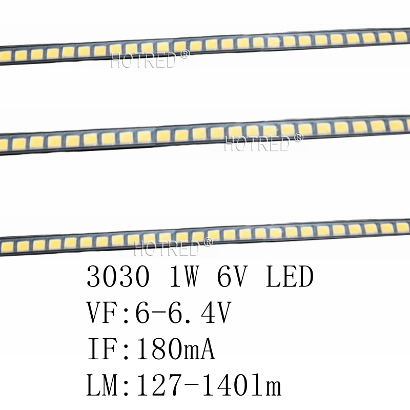 Active Components 10-100pcs For Lg Led Tv Backlight 2835 3030 3535 3v 3014 4014 6v 1w 3w Kit Electronique Led For Lcd Tv Repair Cool Cold White Diodes
