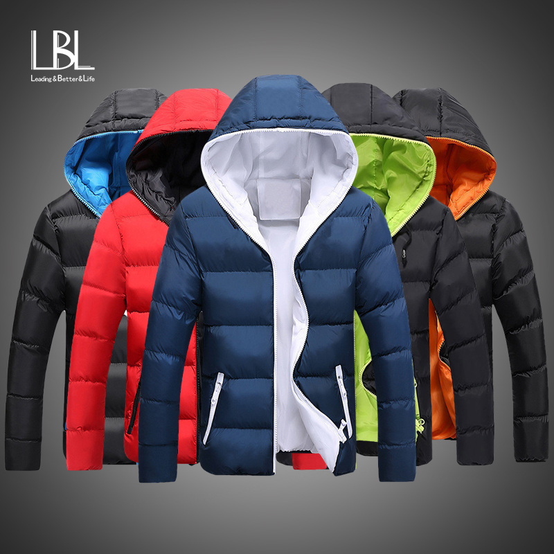 2019 New Winter Hooded Jackets Parka Men Autumn Warm Outwear Brand Slim Mens Coats Casual Windbreaker Quilted Bomber Jackets Men