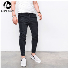 Man Casual Jeans Plus Man Loose Skinny Denim Long Pants Trousers Man Brand Fashion Denim Hip Hip Cross-pants Cheap Man Clothing