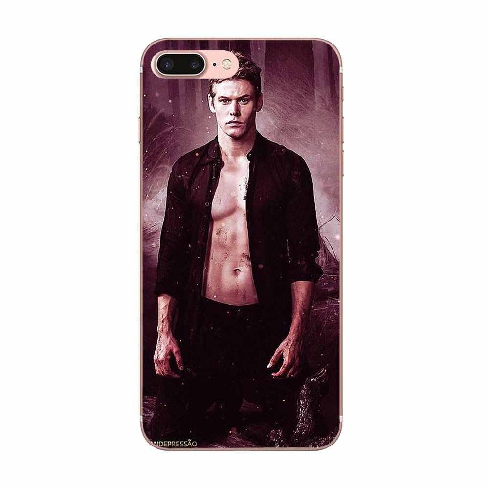 Soft TPU กรณีโทรศัพท์สำหรับ Apple iPhone 4 4 S 5 5C 5 S SE 6 6 S 7 8 Plus X XS Max XR แวมไพร์ไดอารี่ Damon น่ารัก