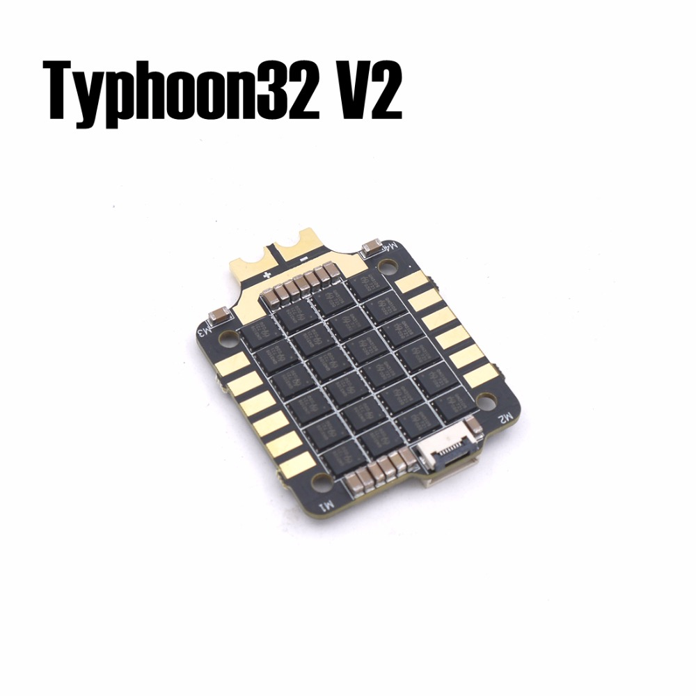 Typhoon32 v2 4in1 ESC 4x35A with 30.5x30.5mm mounting holes supports DSHOT 1200, BLHELI32 firmware for quadcopter метчики 1 4 32