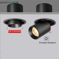 Stretchable led recessed downlight 12W 10W 7W recessed ceiling lamp 360 degree Adjustable spot light led lamp for home decor