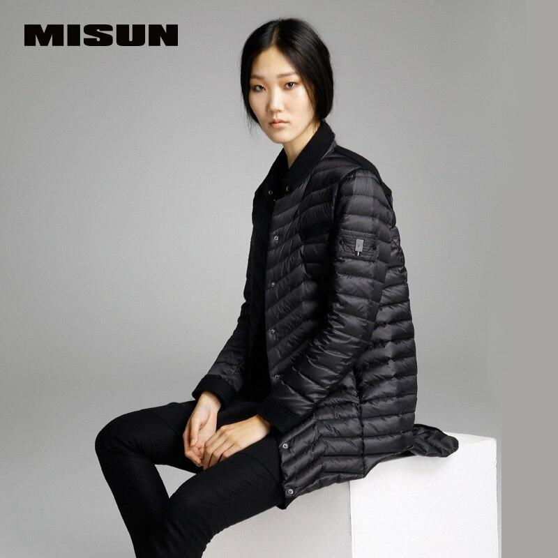 High quality misun 2019 spring thin   coat   medium-long   down     coat   female brief jackets new hot sell