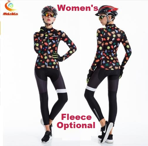 Women's Sports Jersey Girl's Cycling Jerseys Winter Fleece Optional Bicycle Racing Clothings Riding Dress QM17LTW2 Free Shipping scoyco motorcycle riding knee protector extreme sports knee pads bycle cycling bike racing tactal skate protective ear