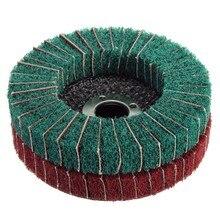 1PC 4 inch/100mm Nylon Fiber Abrasive Polishing Wheel Buffing Disc 280/320 Grit Nylon Fiber Polishing Disc fiber polishing buffing wheel 320 grit nylon abrasive 150mm dia 25mm 7p hardnes