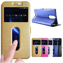 For Lenovo K5 Note Case Cover Quick Answer View Window Stand Phone Cases For Lenovo K5 Note Vibe Case Flip Capa A7020 5.5 Coque цена