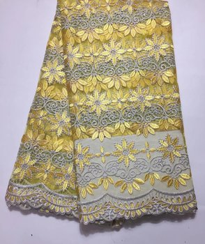 African Lace Fabric 2017 Embroidered Nigerian Laces Fabric With Bead 2017 High Quality French Tulle Lace Fabric For Women Dress