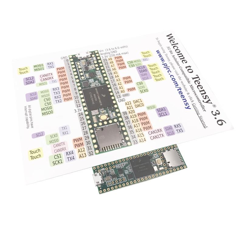 3266 Teensy 3.6 Cortex-M4F MK66FX1M0VMD18 module цена
