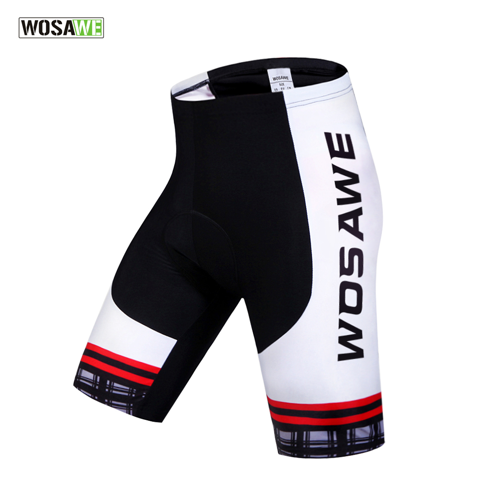 WOSAWE Cool Padded Cycling Shorts Shockproof MTB Bicycle Short Pant Road Bike Shorts Ropa Ciclismo Tights For Men Women