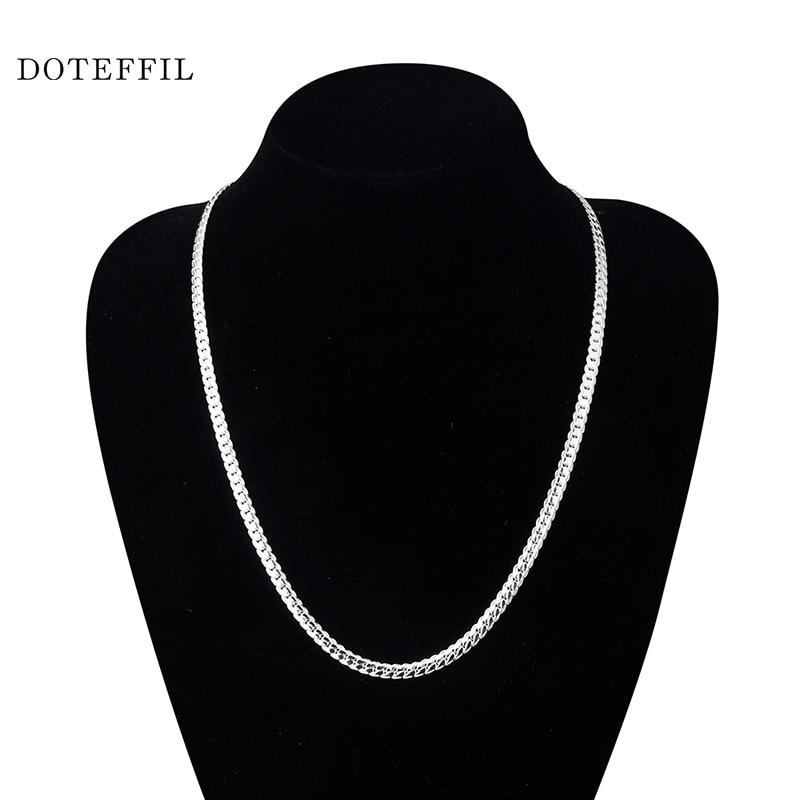 Nové přírůstky Ženy 6MM Full Side Silver náhrdelník 925 - Bižuterie - Fotografie 5