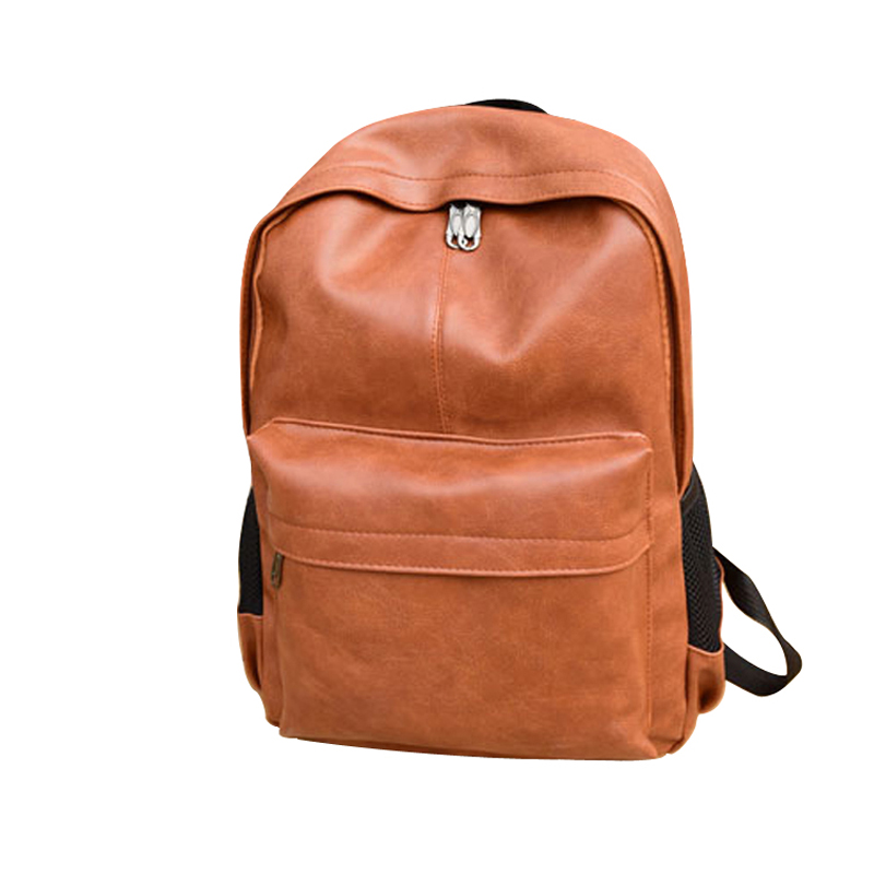 Brand Preppy Unisex Style Leather School Backpack Vintage Bag For College Simple Design Men Casual Daypacks mochila male New miwind famous brand preppy style leather school backpack bag for college simple design travel leather backpack bags tlj1082