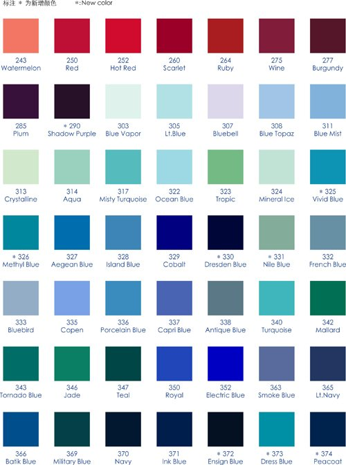 Ocean Blue Color Chart Erkalnathandedecker