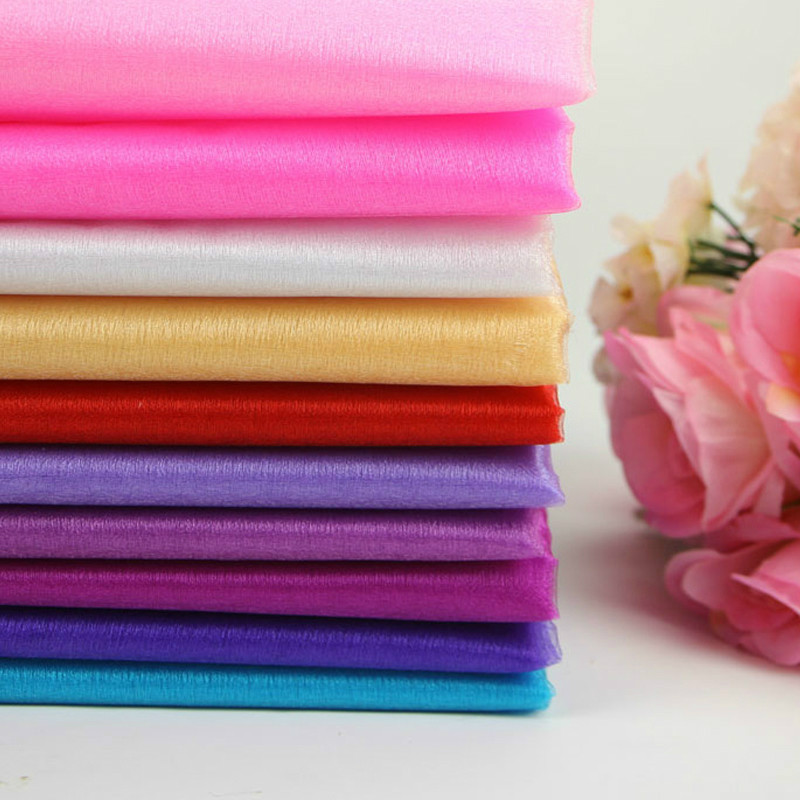 48cmx 5m Tulle Roll Sheer Crystal Organza Fabric Event Birthday Party Supplies for Wedding Decoration New Year for A Holiday.
