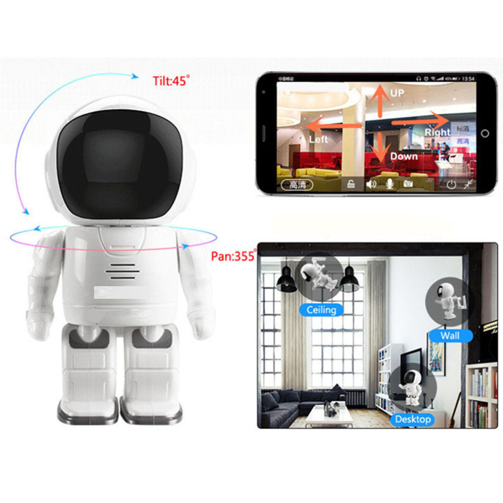 960P Robot Network IP Camera WIFI HD PTZ 1.3MP 1/3'' CMOS Audio P2P Onvif Night Vision SD TF Card Slot Security Cam Baby Monitor 1 3mp hd 960p wireless wifi ip camera ir night vision onvif p2p security camera audio recording ip wifi camera support tf card