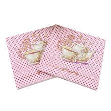 40pcs 33*33cm Teapot theme paper napkins serviettes decoupage decorated for wedding party virgin wood tissues