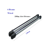 GZGMET 100 Memter Wired 6 Beams Infrared IR Barrier Detector Motion Sensor Outdoor Gsm Alarm SECURITY FENCE ALARM