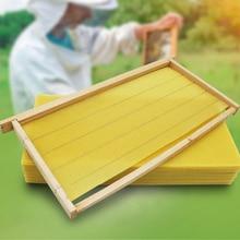 30 штук сотовой основы глубокая комната натуральный пчелиный воск улей инструменты пчеловодства пчелиное гнездо 22X35 см