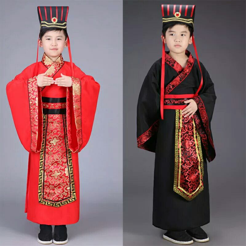 hanfu dress ancient chinese traditional costume men for kids boys hanfu cosplay child clothing red tang dynasty dance children 건달 조폭 옷
