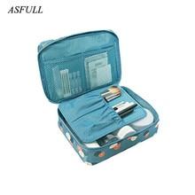 ASFULL New Fashion Toiletry Bags Waterproof Oxford Women Makeup Travel Bag Portable Organizer Beautician Cosmetic Men Bathroom