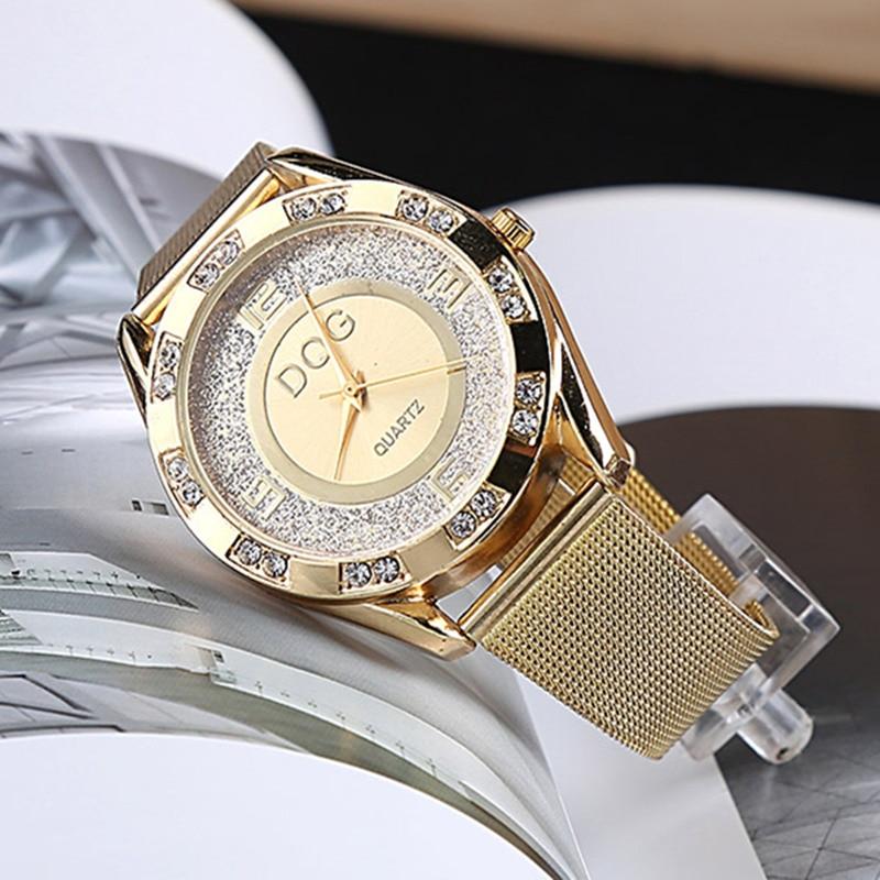 reloj mujer Nieuwe luxe merk mode zilveren gaas riem vrouwen horloges - Dameshorloges - Foto 1