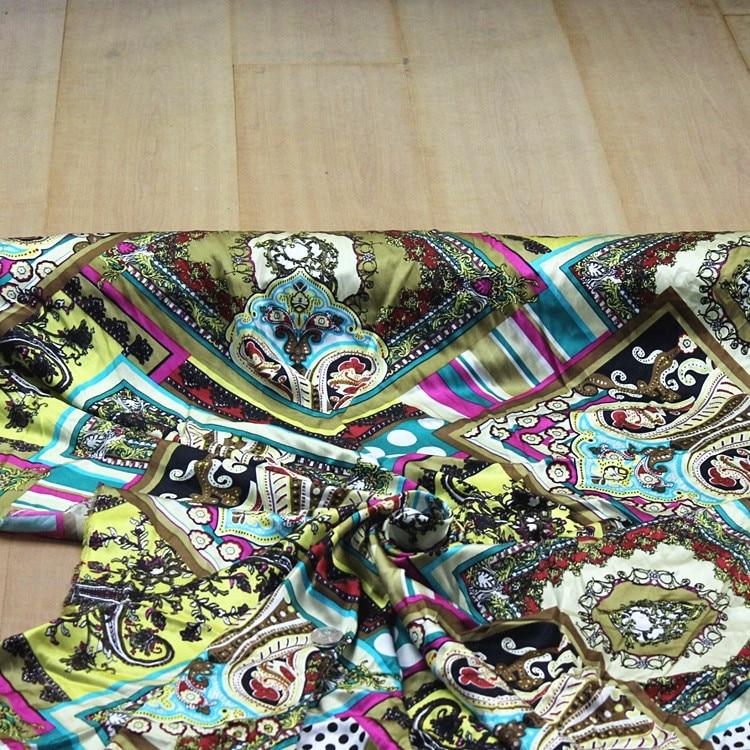 Мягкий спандекс стрейч шелковая ткань из шелкового шармеза атласный материал платья, печать, ширина: 110 см, толщина: 18 мм, продажа по 2 м, дизайнер|Ткань|   | АлиЭкспресс