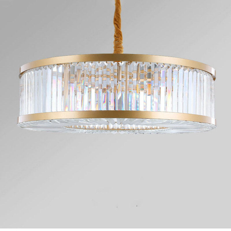 Large Round Crystal Chandelier Lighting