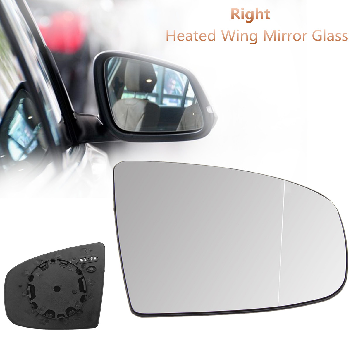 Audi A6 2011-2016 Right Driver Side O//S Door Mirror Glass Heated