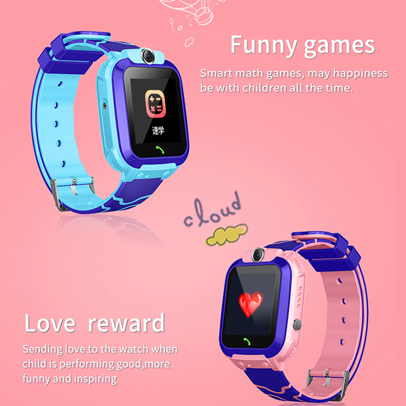 Image 3 - TENZERO Smart Watch S12 Child Smart Watch Phone Position Children Watch 1.44 inch Color Touch Screen WIFI SOS Smart Baby Watch-in Smart Watches from Consumer Electronics