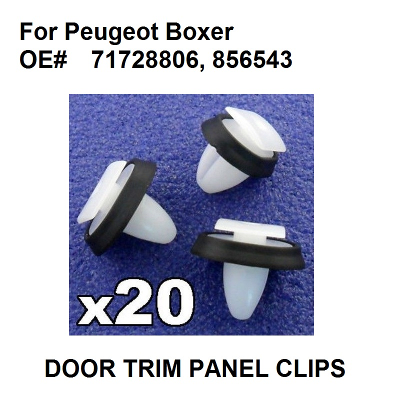X20 For Peugeot Boxer Exterior Side Moulding Rub Bumpstrip / Lower Door Trim Clips 71728806, 8565.43, 856543 New