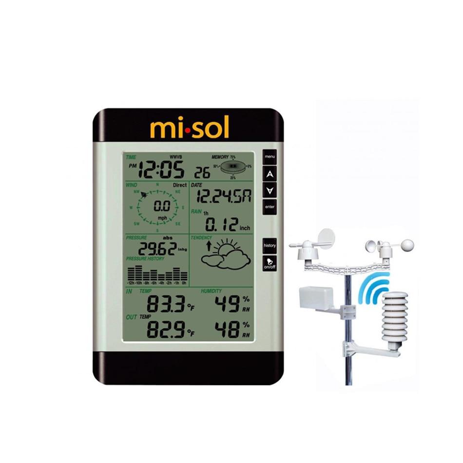 WH2081 météo sans fil à l'intérieur et à l'extérieur pluviomètre Direction du vent mesure de la vitesse du vent pression thermomètre électronique