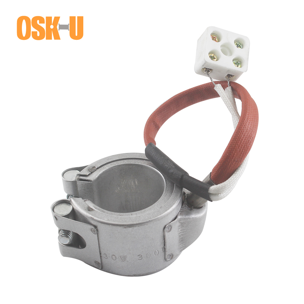 30mm ID Ceramic Band Heater 230V 30x30/30x45mm Height Aluminium Plate Cover Injected Mould Heating Element Wattage 300W