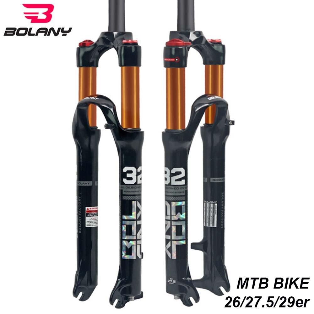 Bolany горный велосипед передняя вилка 26 27,5 29er дюймов магниевого сплава воздуха Dampong горный велосипед 32 RL100mm вилка дисковый тормоз велосипед за
