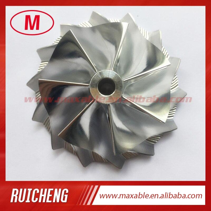 GT25 445436-0001 46,52/60,13 мм 7 + 7 лезвий высокопроизводительная турбозаготовка/фрезеровка/алюминиевый компрессорный круг 2618 для 465949-0001