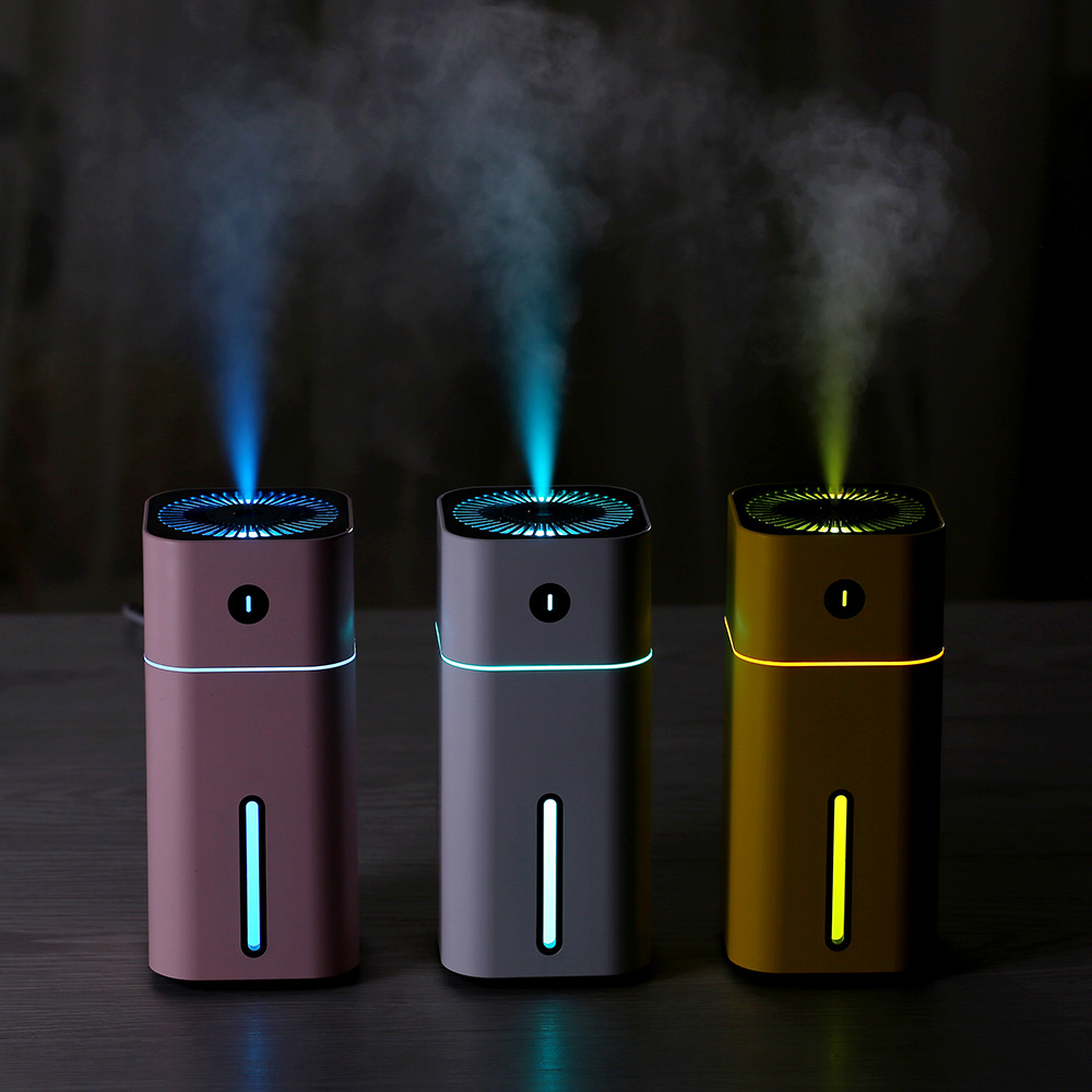 180ml Mini Air Humidifier USB Ultrasonic Humidifier Car Aroma Diffuser Electric Essential Oil Diffuser Cup 7 Color LED Lights