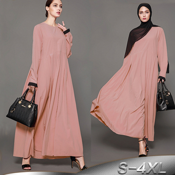 Los Vestido Qatar Árabe Días Turquía Mujeres Plisado Ropa Hijab Vestidos Todos 2019 Islámica Musulmán Turco Kaftan Uae Dubai Bata Abaya vPNnOy08mw